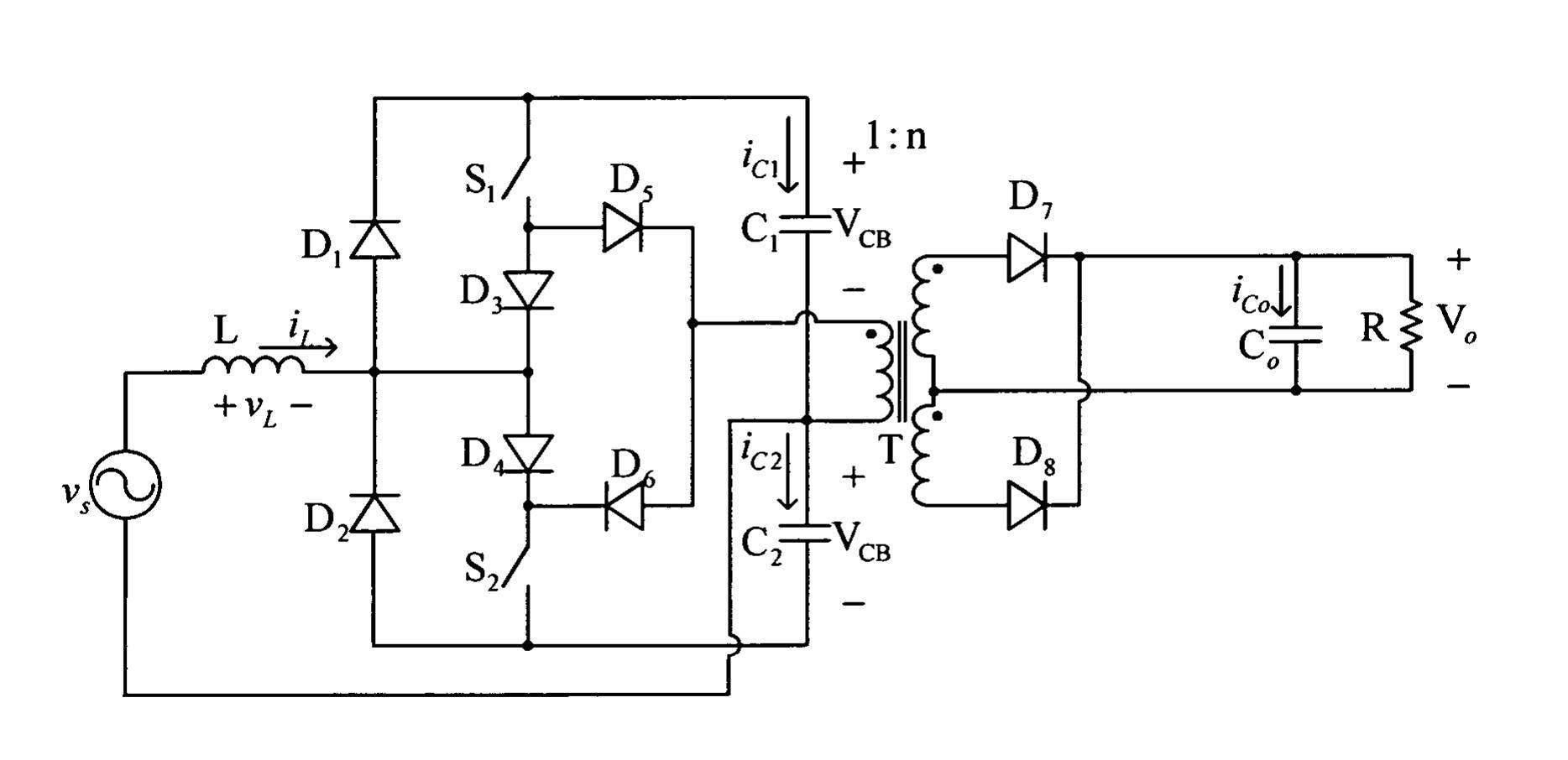 电流馈入式半桥单级电力转换器